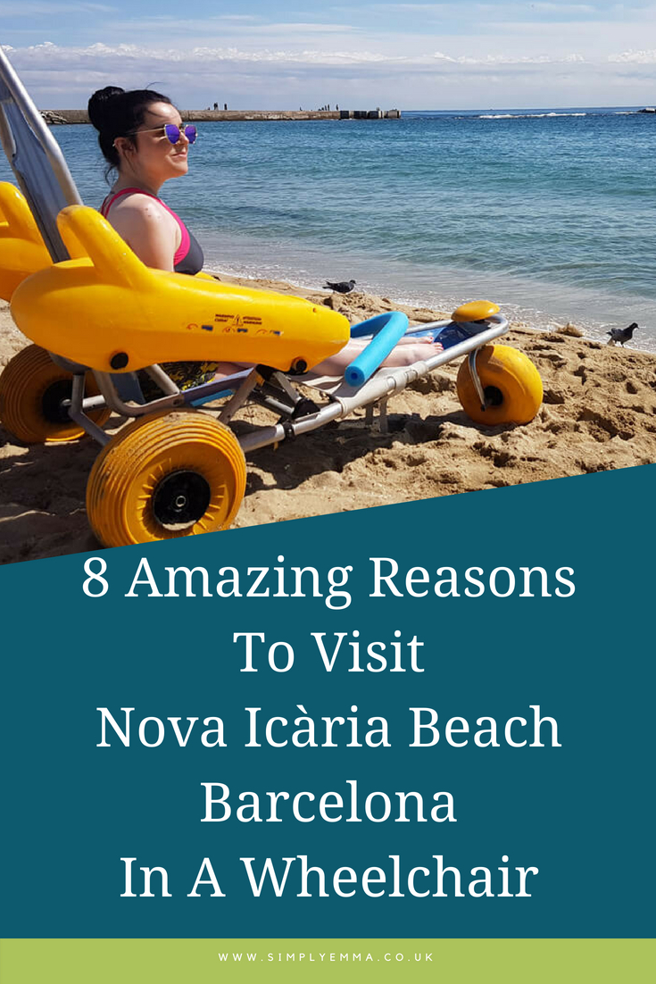 8 Amazing Reasons To Visit Nova Icària Beach Barcelona In A Wheelchair Pinterest Image