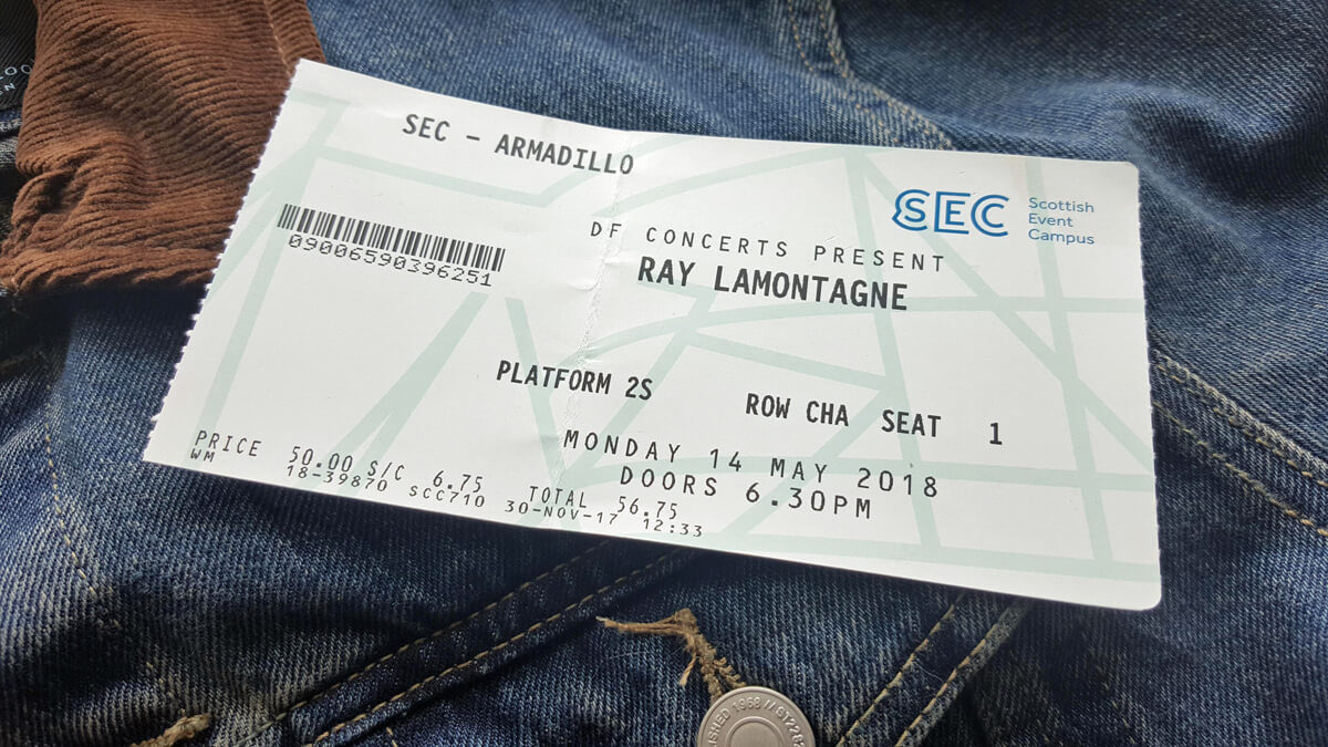 SEC Armadillo Glasgow Wheelchair Access Review | Ray LaMontagne Gig