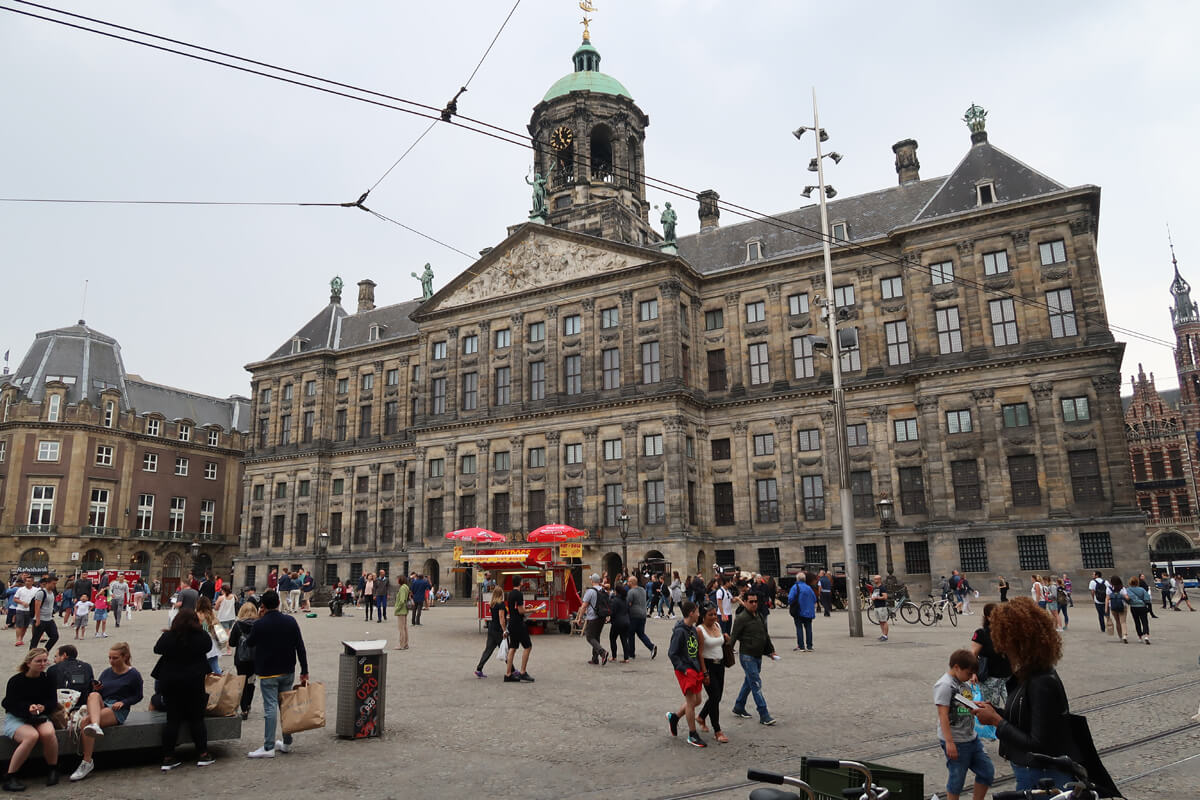 The Royal Palace in Dam Square, Amsterdam.