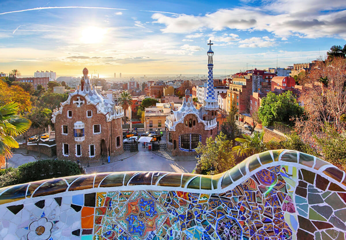 Favourite Accessible Things To Do In Barcelona: View of Barcelona from Parc Guell.