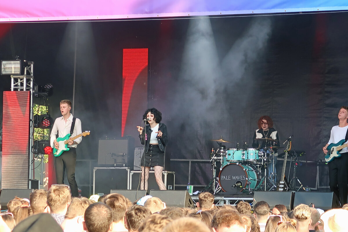 Things I've Loved in June: Pale Waves on the King Tuts stage at TRNSMT festival.