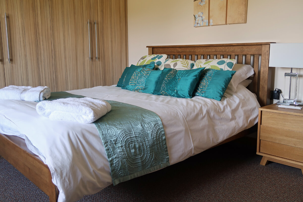 The king size double bed