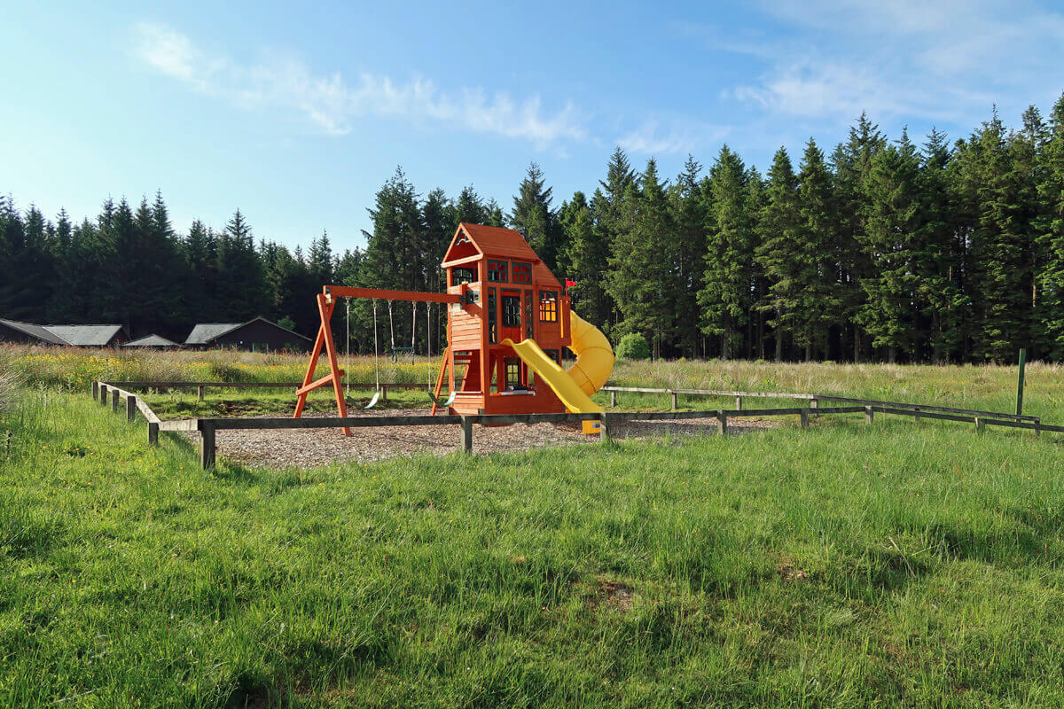 The kids playpark in onsite at Calvert Trust Kielder