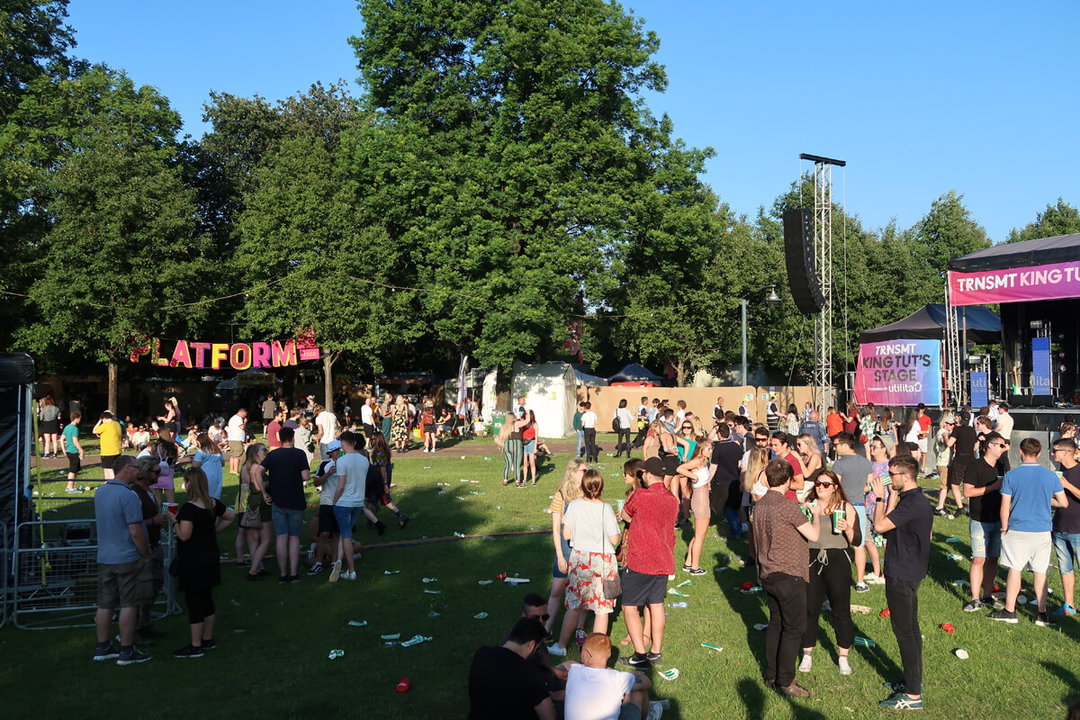 TRNSMT King Tuts stage and platform food stalls.