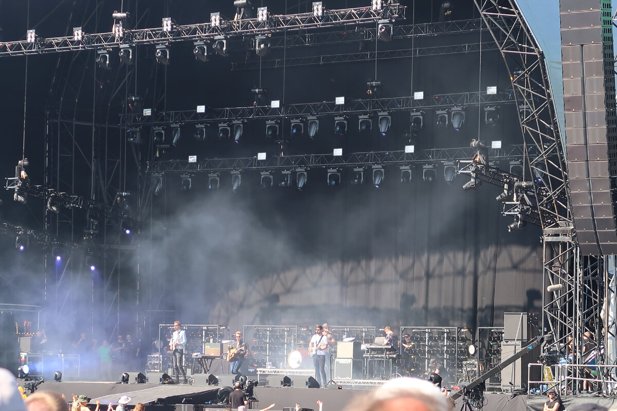 Kodaline performing on the main stage at TRNSMT festival.