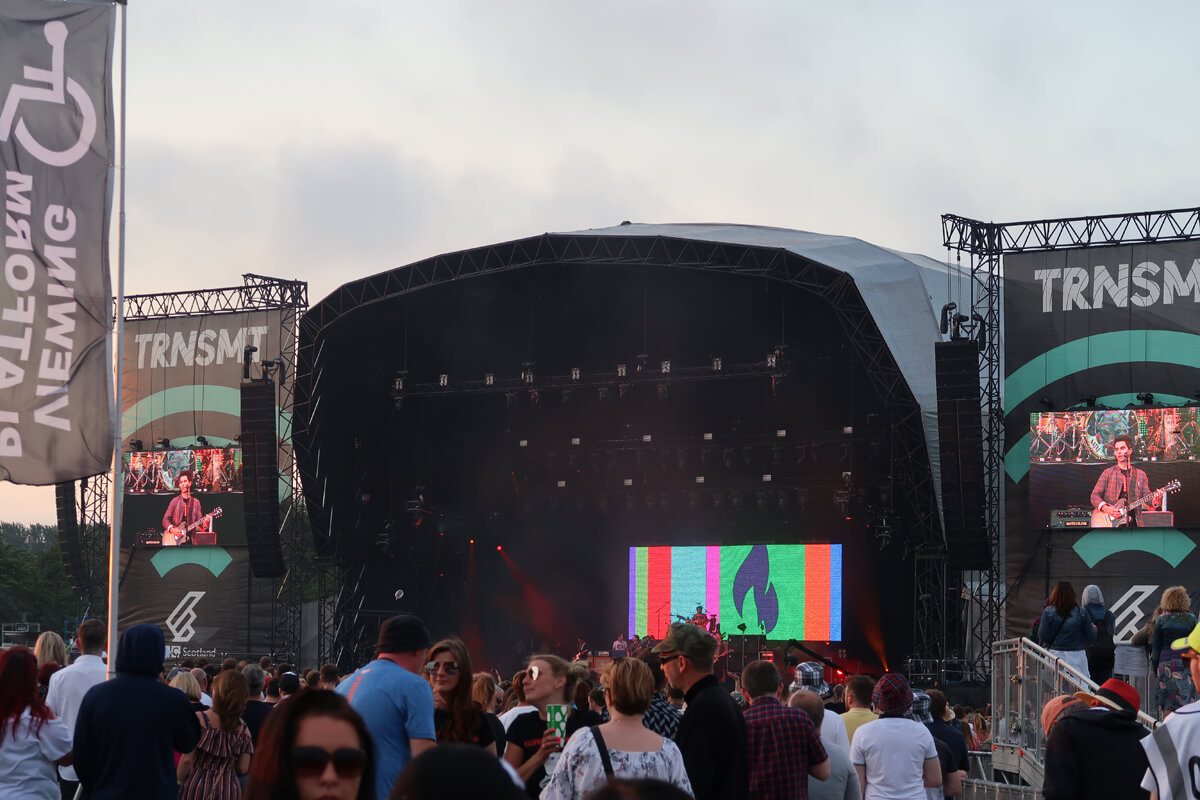 Stereophonics headlining on the main stage at TRNSMT festival.