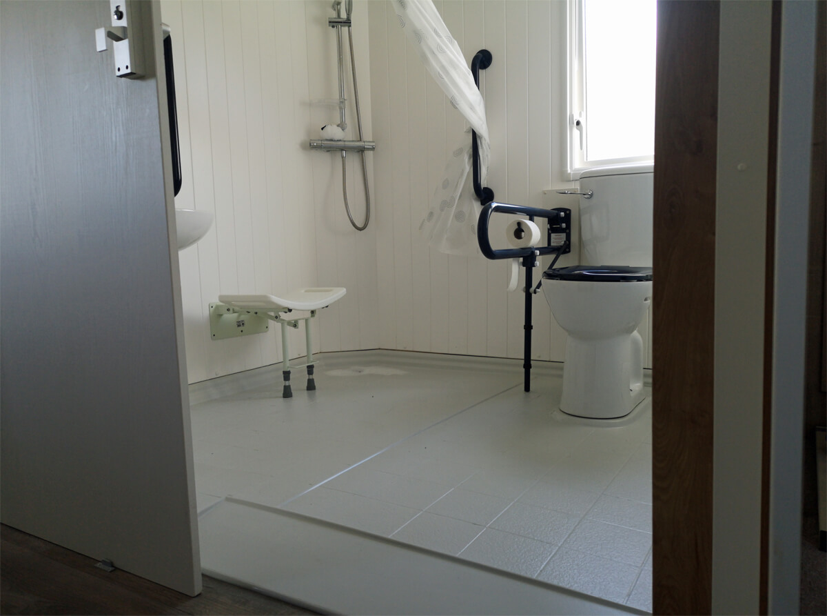 Accessible wet room bathroom