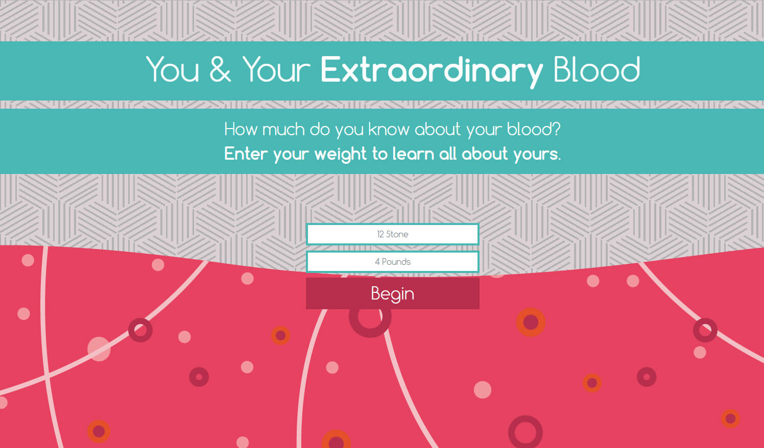 You & Your Extraordinary Blood interactive tool