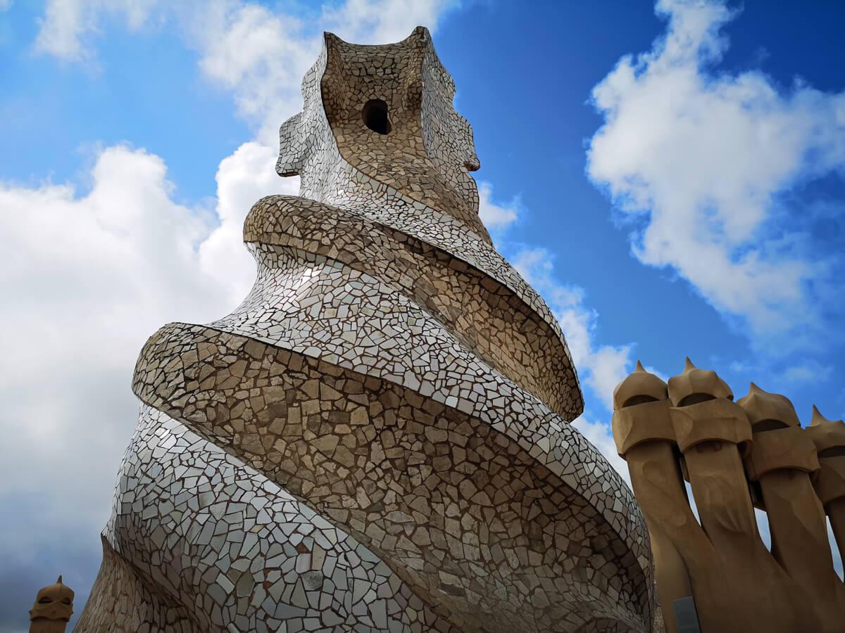 The Roof-terrace of Casa Milà Barcelona