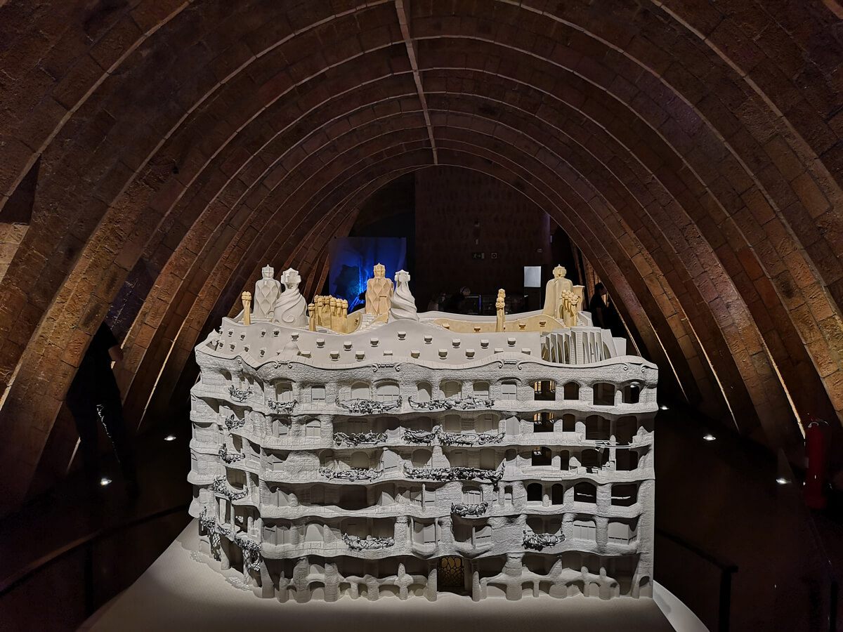 An architectural model of Casa Milà Barcelona