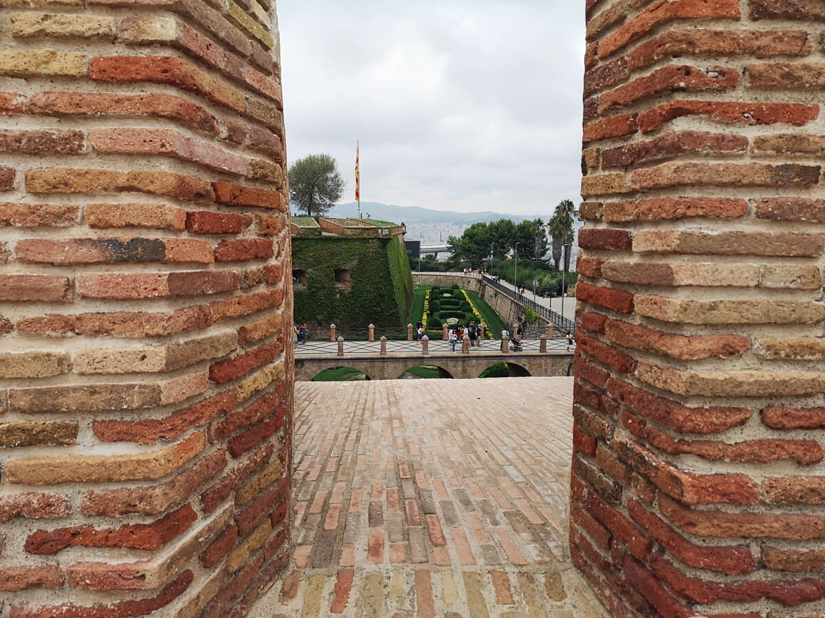 The view from Montjuïc Castle Barcelona.