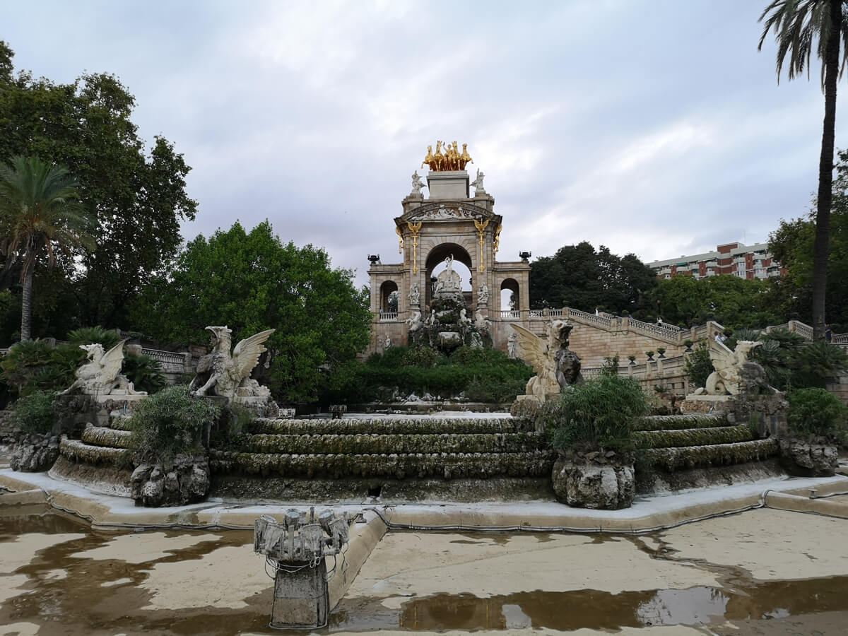 The Cascada in Parc de la Ciutadella Barcelona. Currently under construction the the fountain had no water in it.