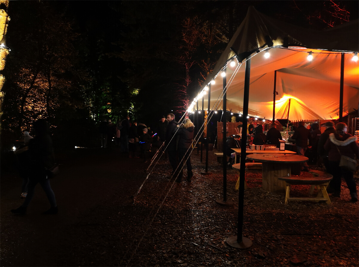 A food and drink tent