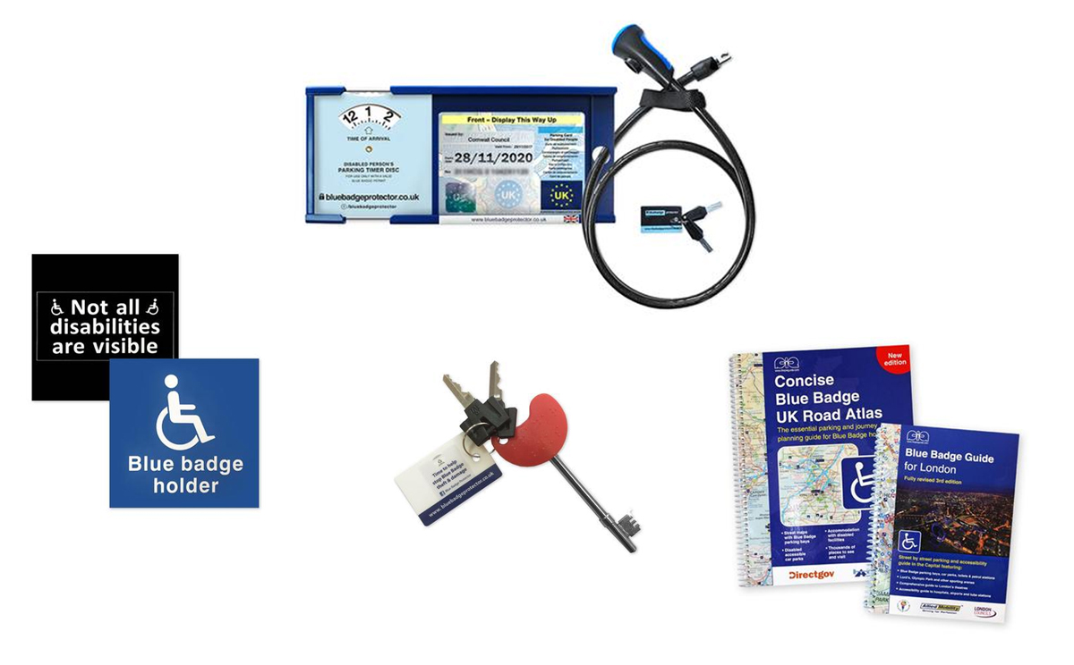Blue Badge protector traveller set