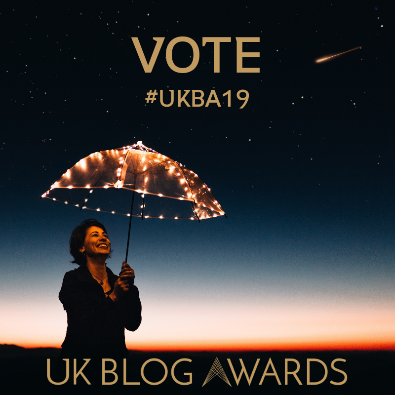 UK Blog Awards 2019 vote badge