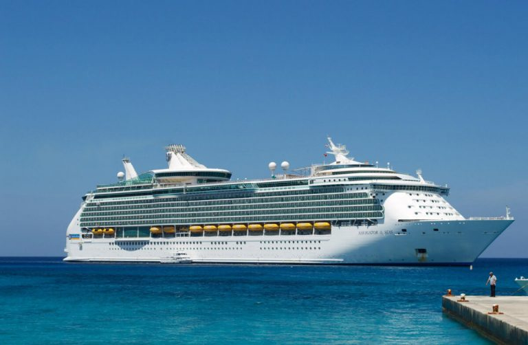 Royal Caribbean 'Navigator of the Seas' ship cruising in Spain.
