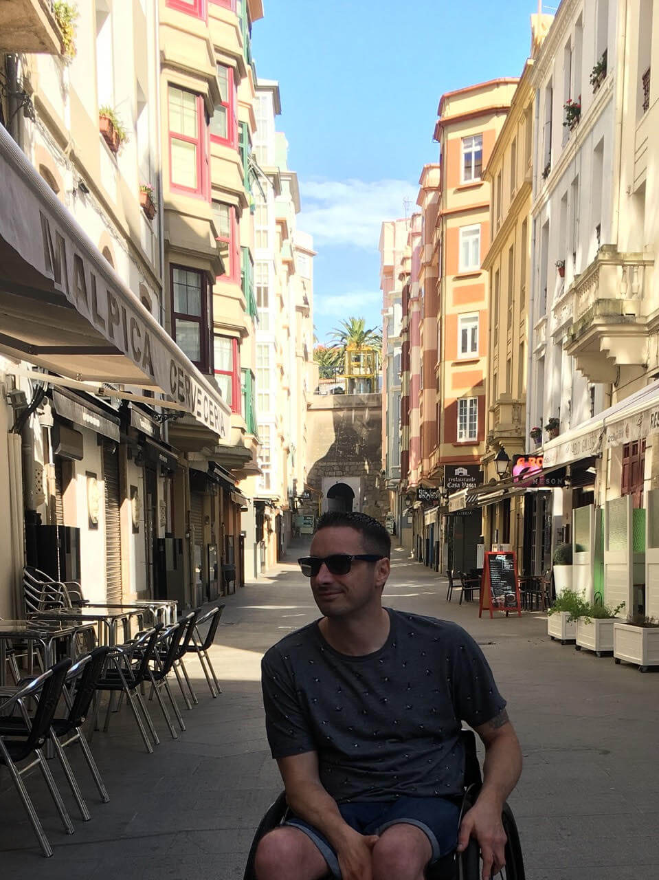 Steve exploring the streets of La Coruña.