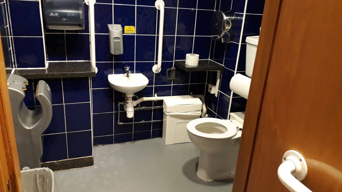 Accessible toilet at Stirling Castle Unicorn Cafe