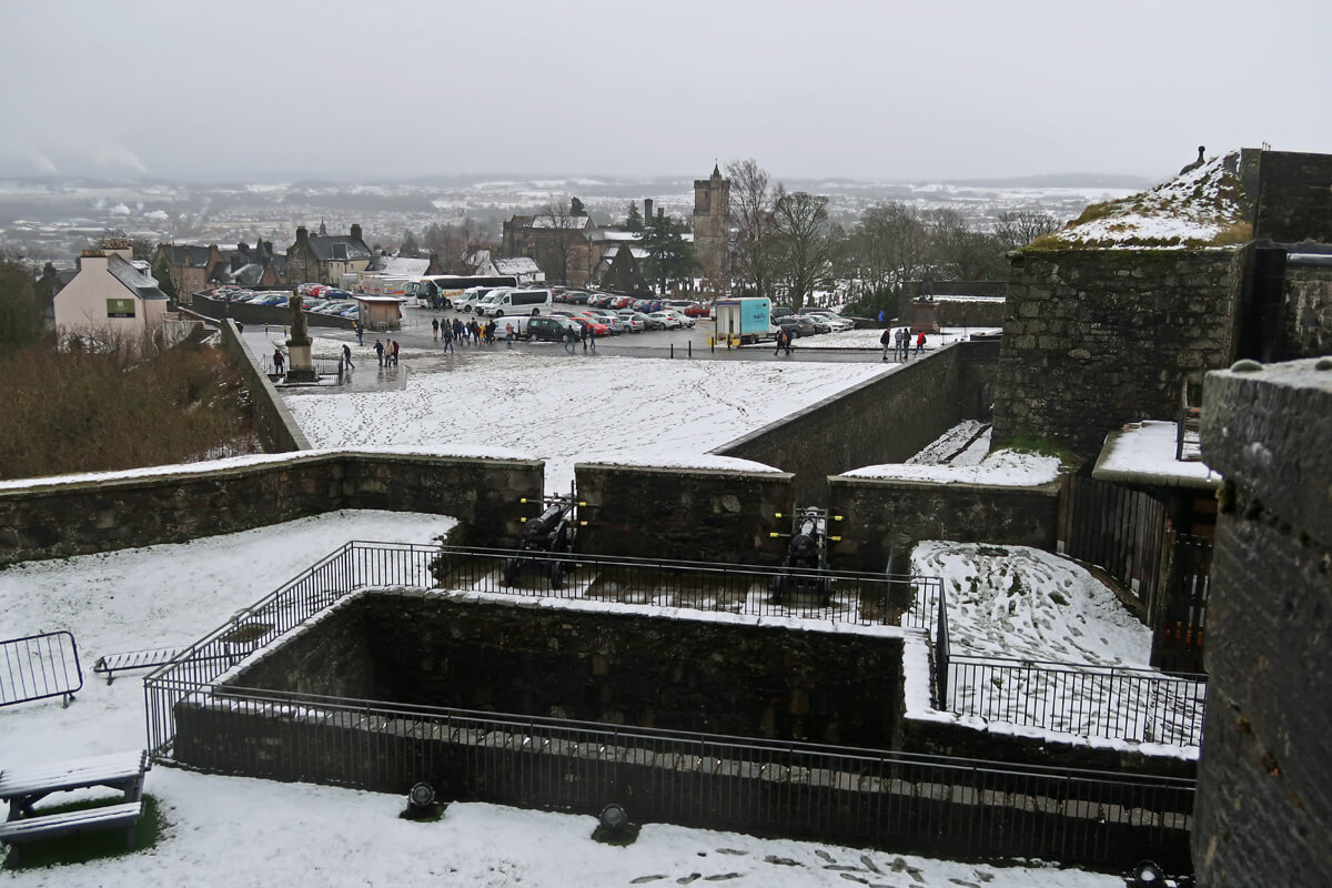 View of the carpark from Stirling Castle