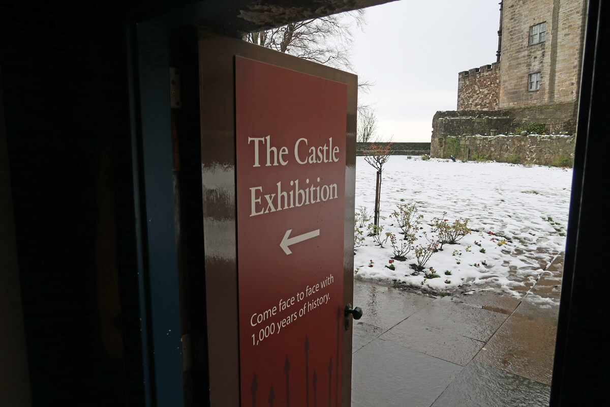 The entrance to the access gallery.