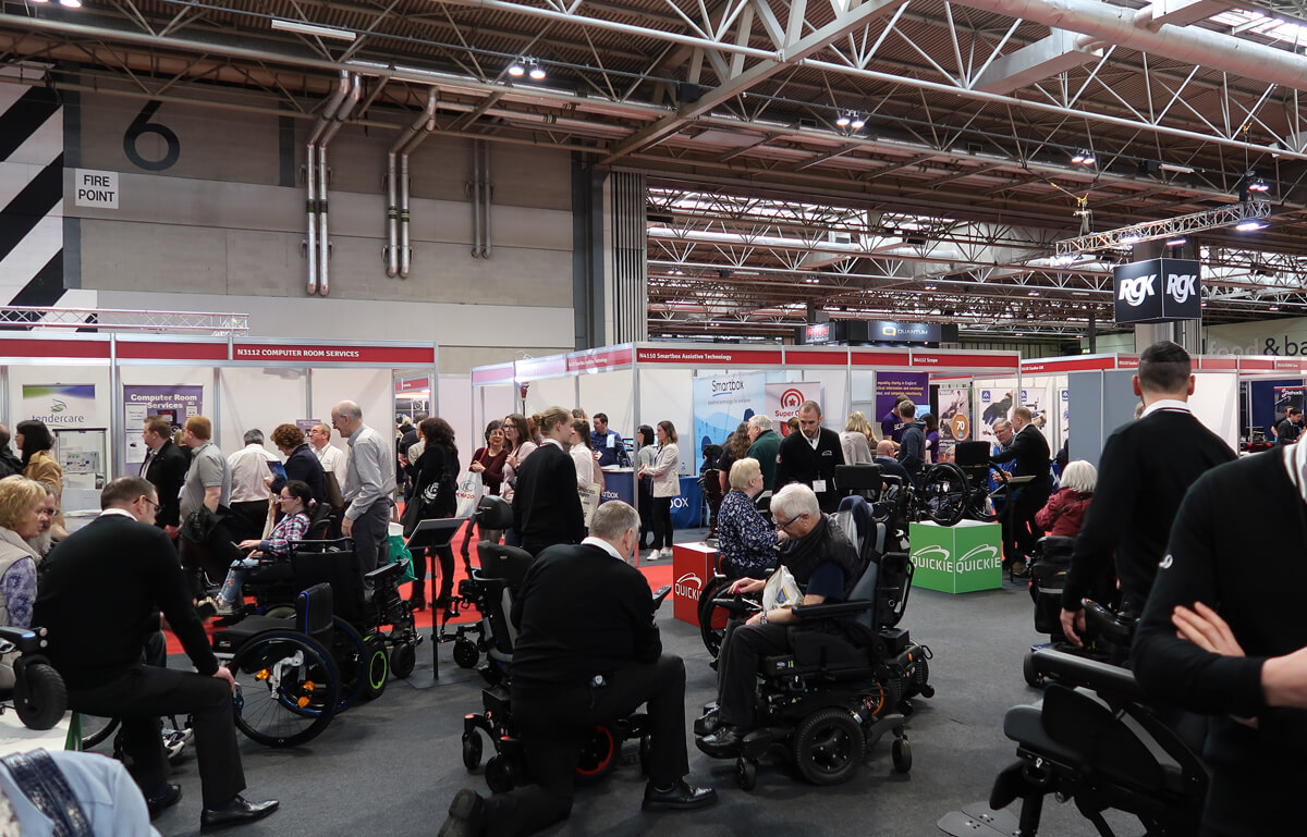 Quickie wheelchairs on displays at Naidex 45 at Birmingham NEC