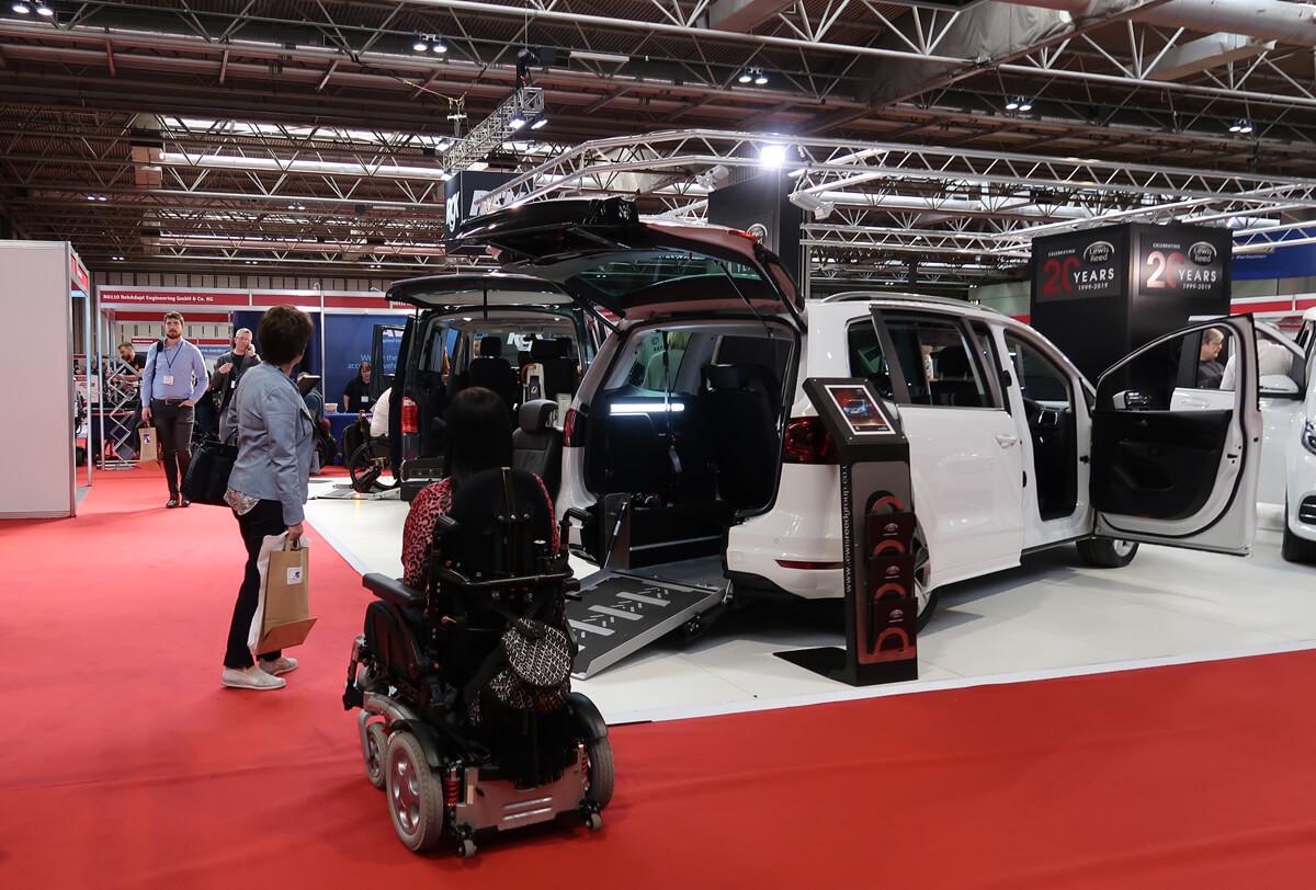 Wheelchair accessible vehicles at Naidex 45.