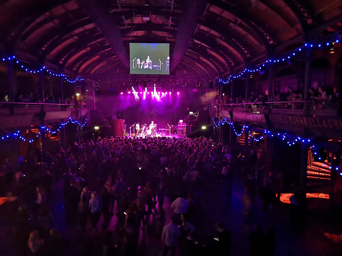View of The Old Fruitmarket from the accessible balcony area.