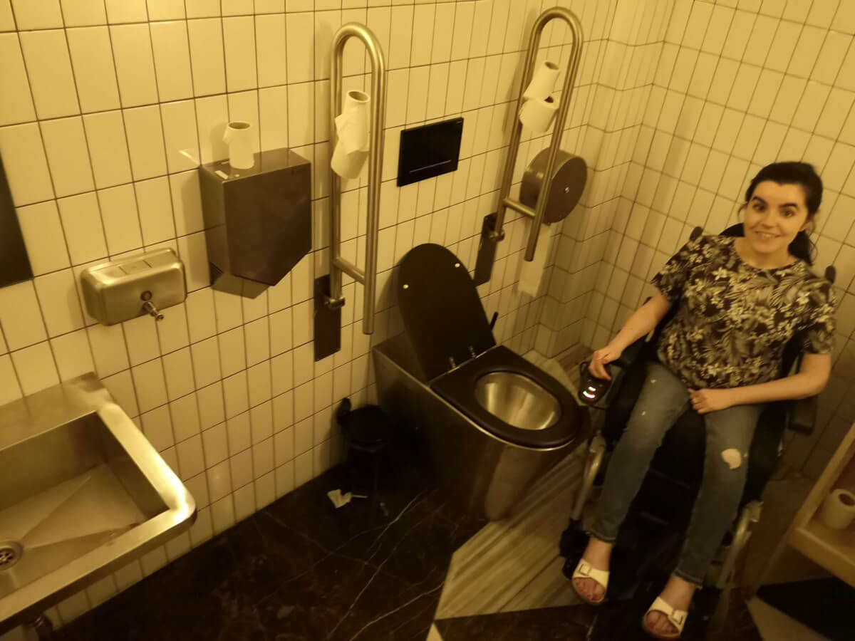 Accessible toilet in Flax & Kale Passage.