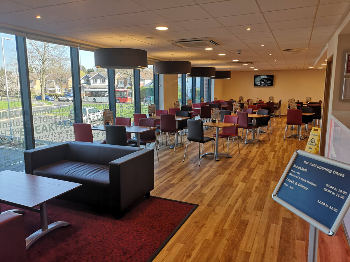 Travelodge Solihull bar cafe layout.