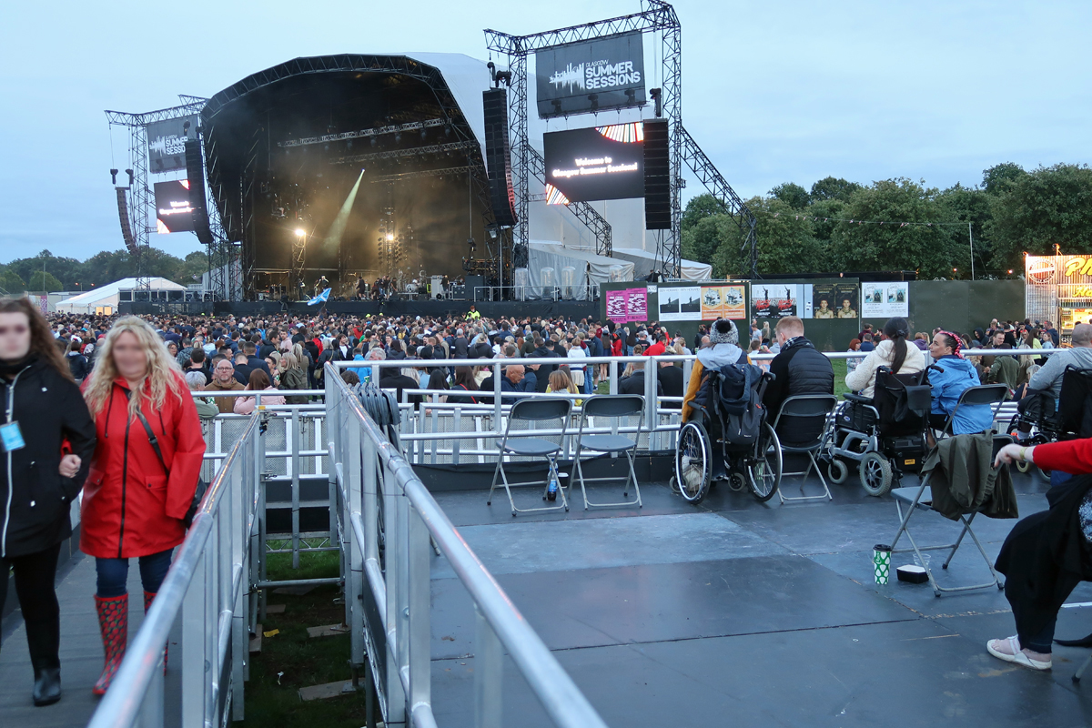 A view of the accessible viewing platform at Glasgow Summer Sessions.