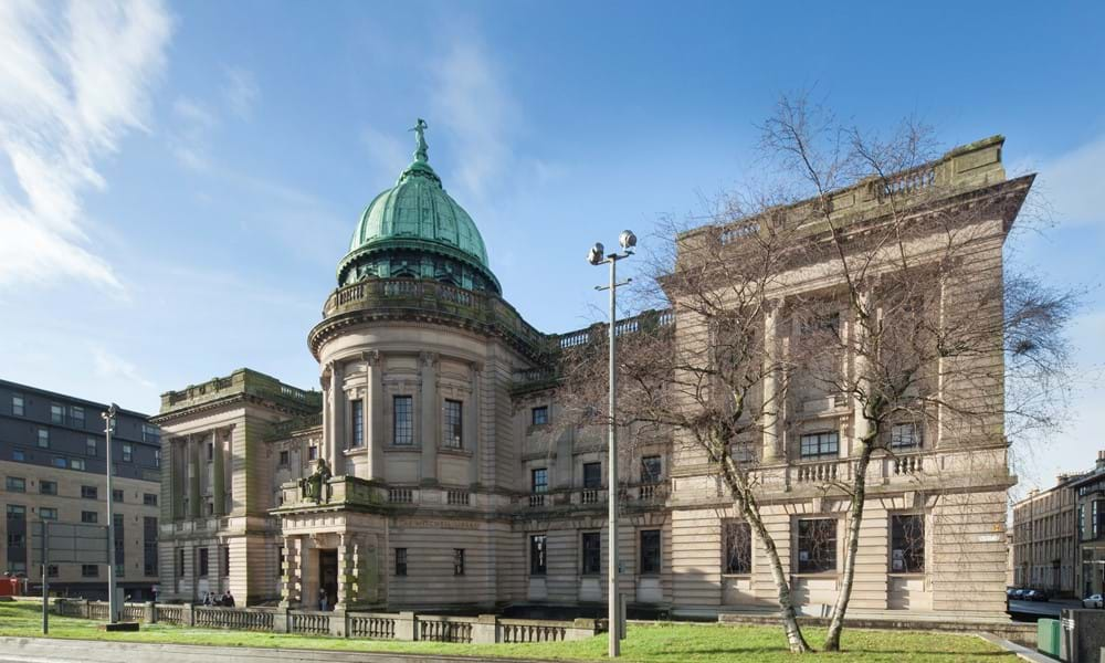 Exterior shot of The Mitchell Library in Glasgow.