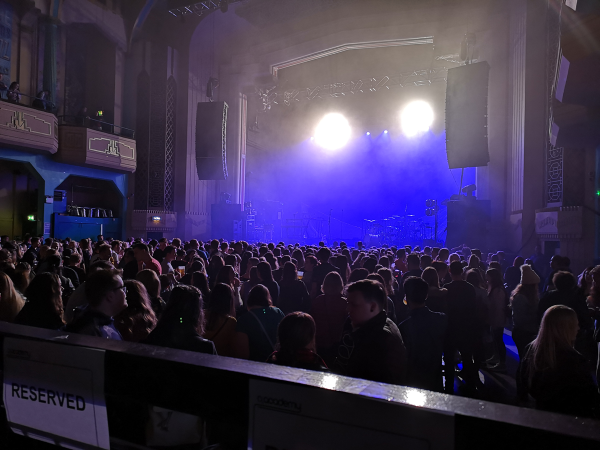 View of the stage from the accessible viewing area at O2 Academy Glasgow