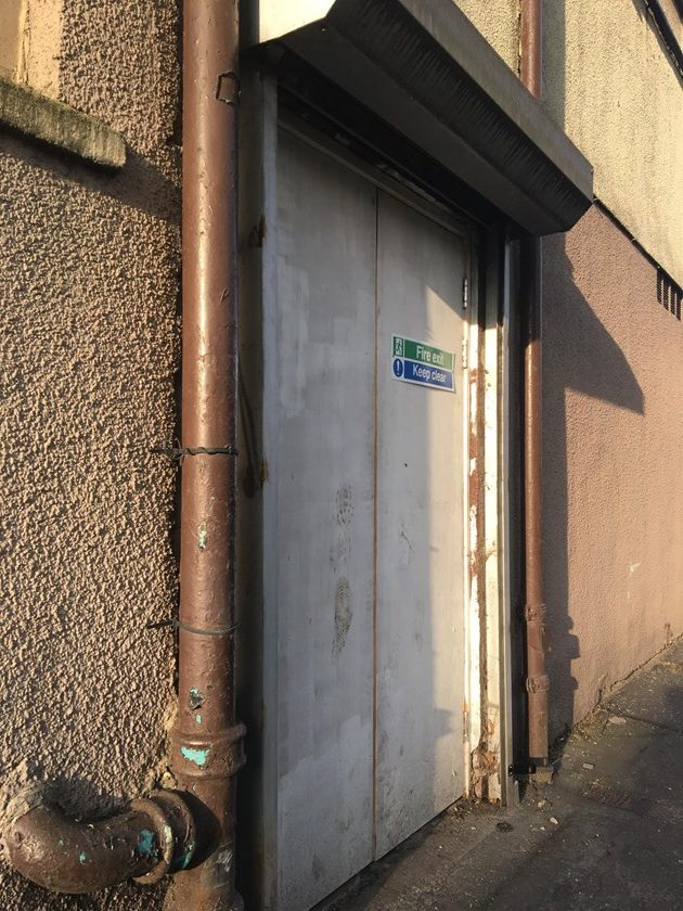 The accessible side door entrance to O2 Academy Glasgow
