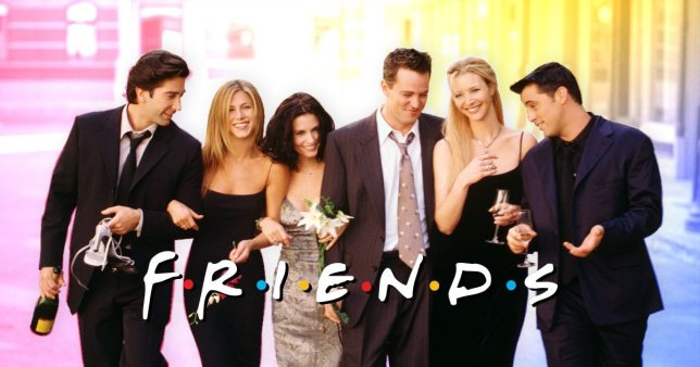 A Friends poster with the six cast members.