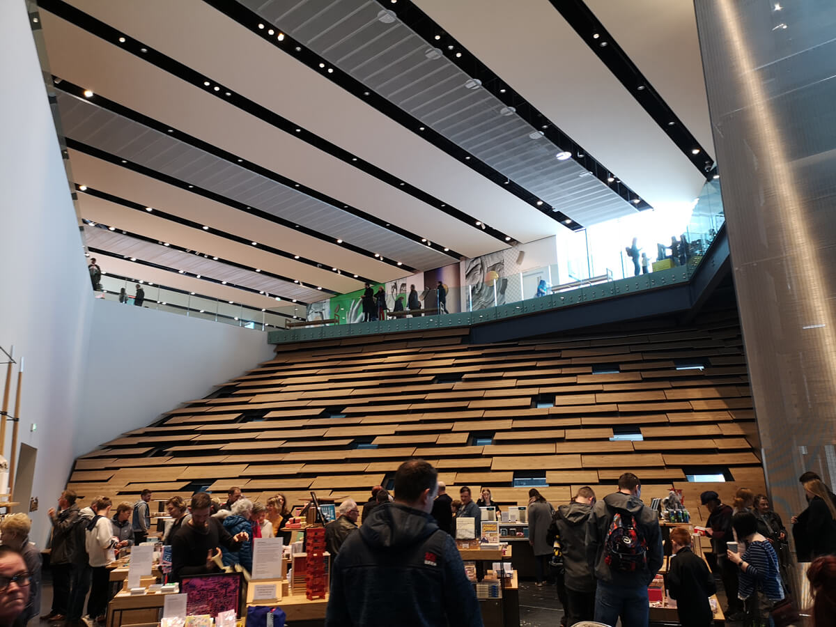 The gift shop in the V&A Dundee