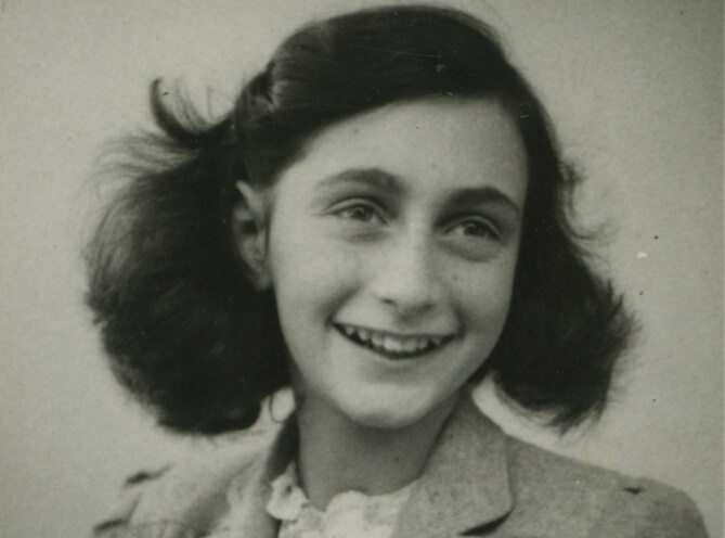 A photo of Anne Frank.