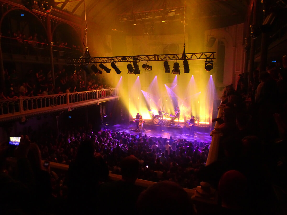 A view of the stage from the balcony at Paradiso.