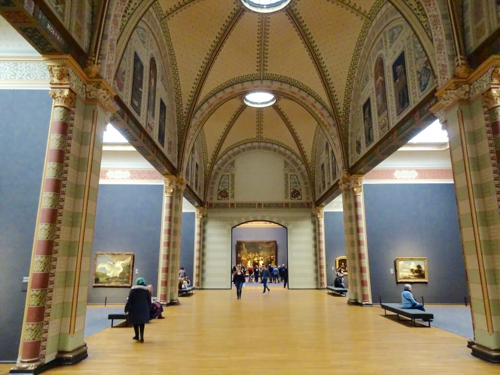 Inside the Rijksmuseum museum.