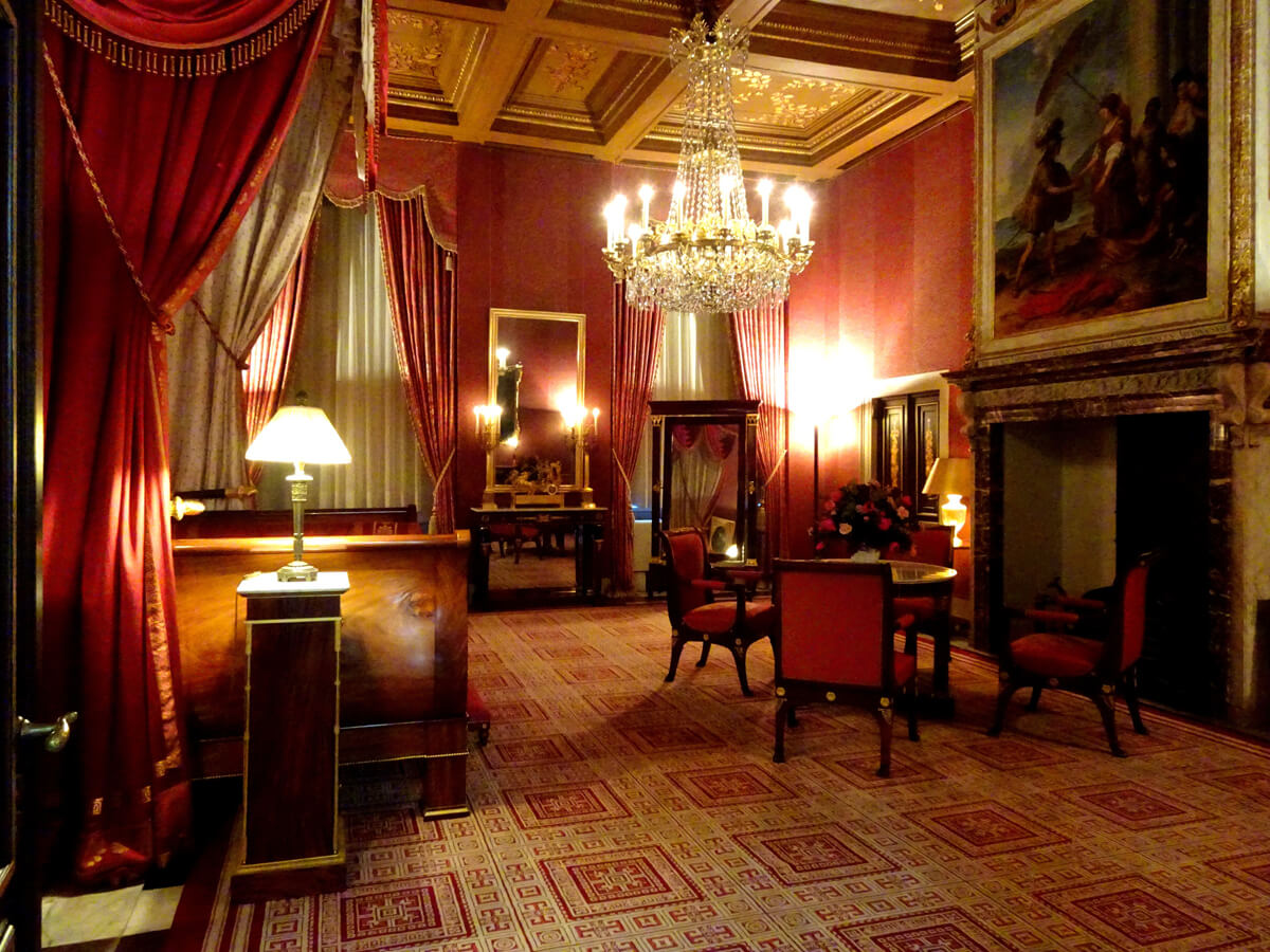 Inside a room in The Royal Palace in Amsterdam.