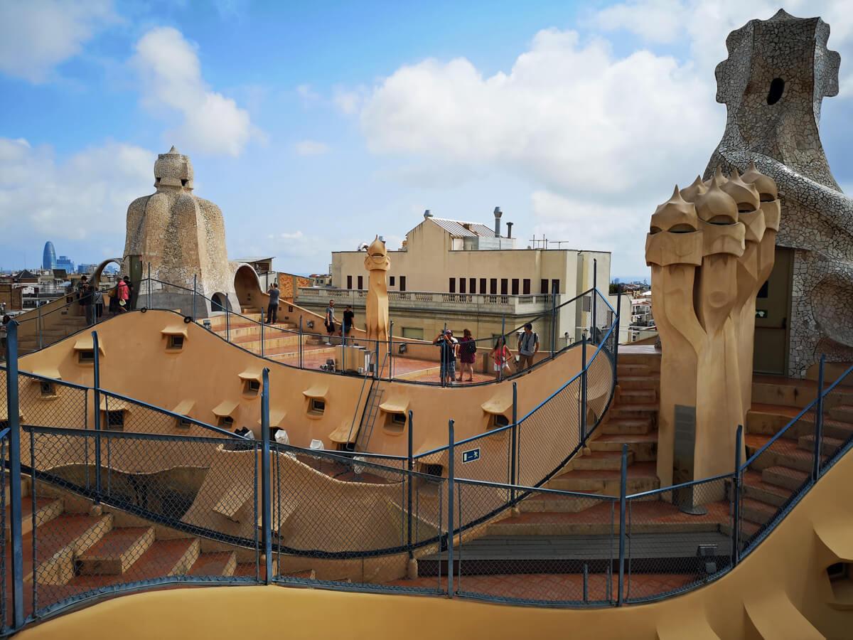 Casa Milà rooftop.