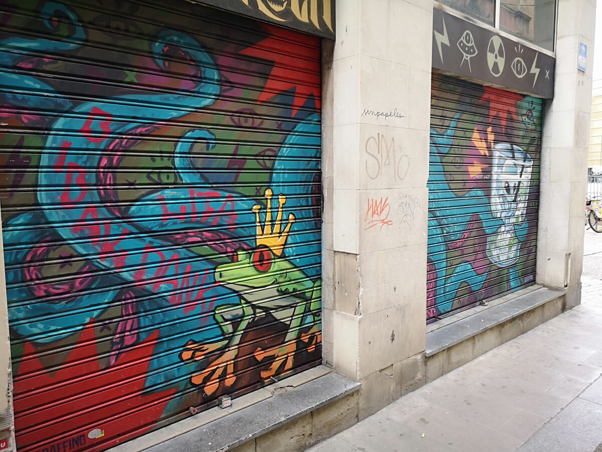 Graffiti street art Barcelona