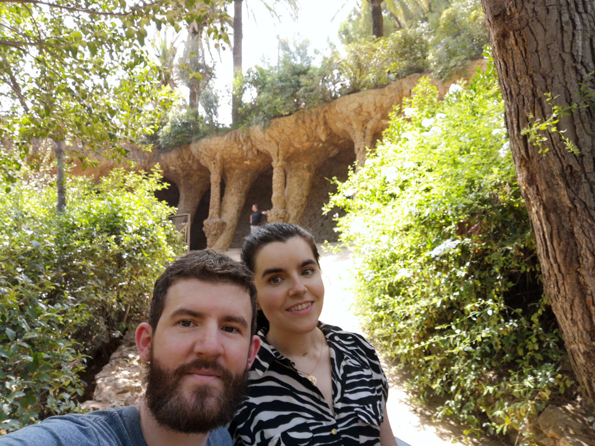 Emma and Allan at Parc Güell Barcelona
