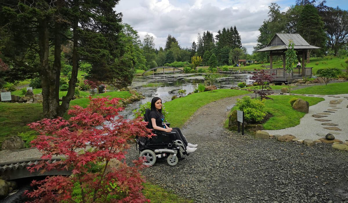 Visiting The Japanese Garden at Cowden In A Wheelchair