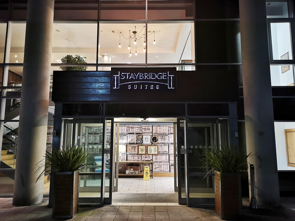 Staybridge Suites Liverpool   entrance.