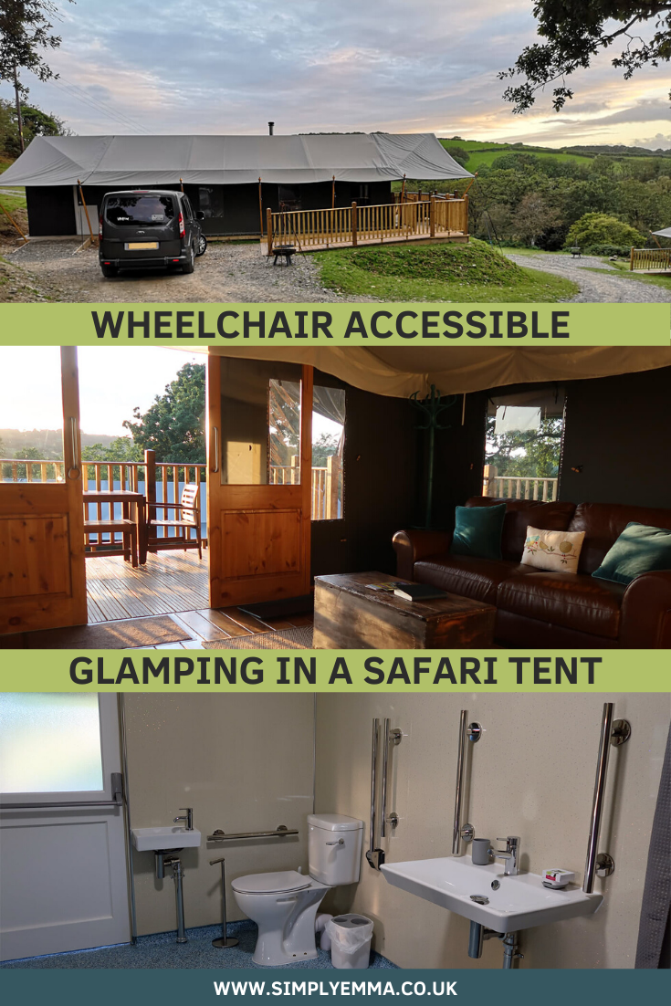 Canvas and Campfires Wheelchair accessible glamping in a safari tent.