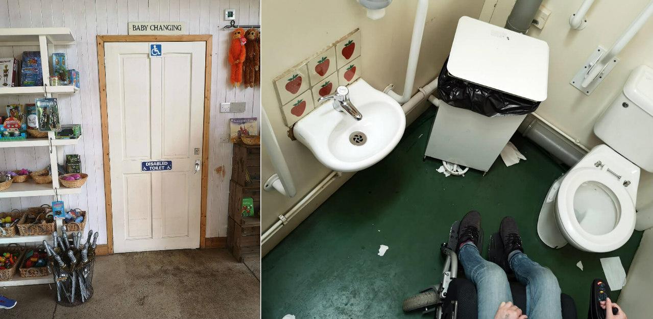 Cairnie Fruit Farm accessible toilet.