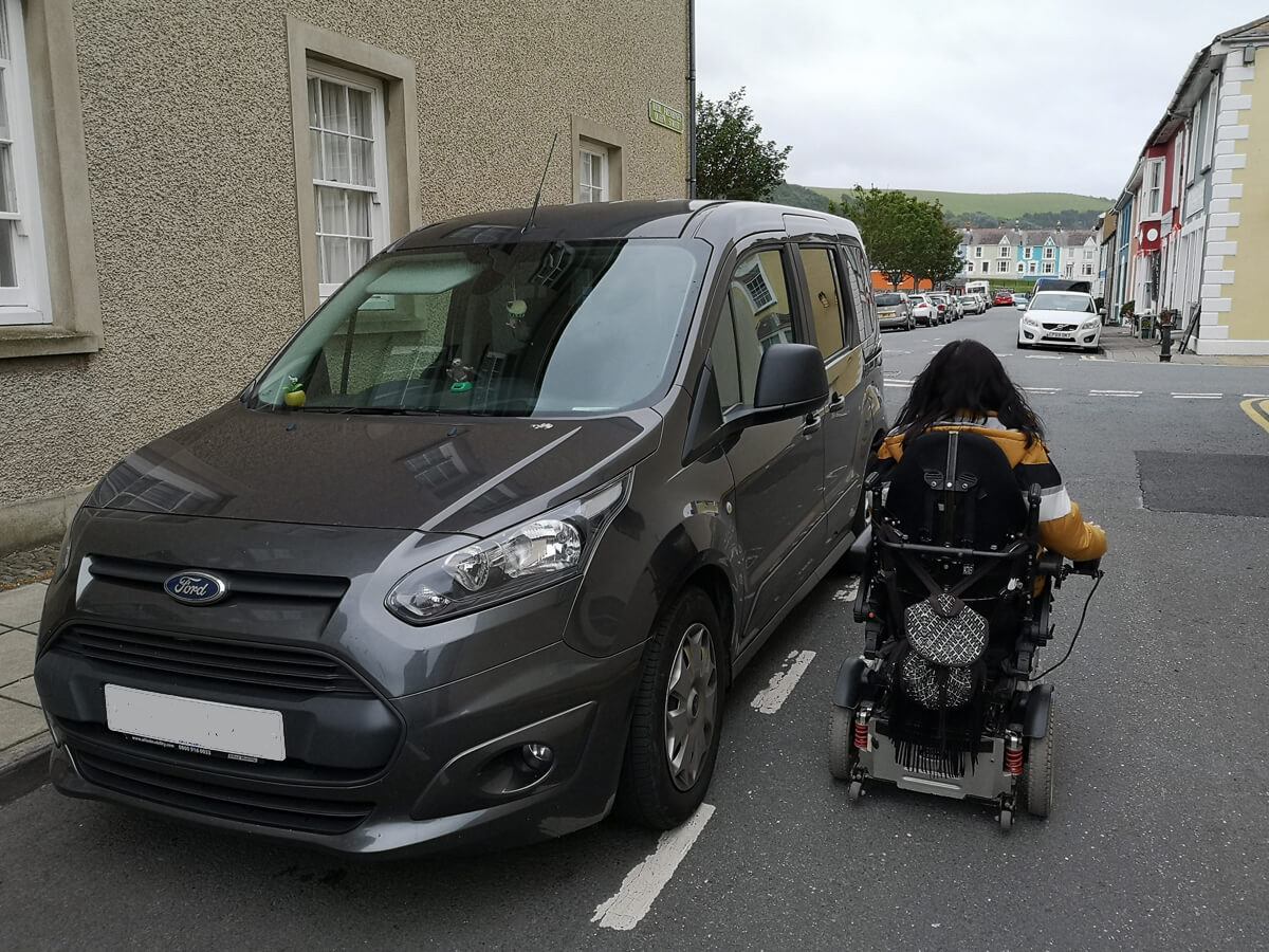 Aberaeron disabled parking