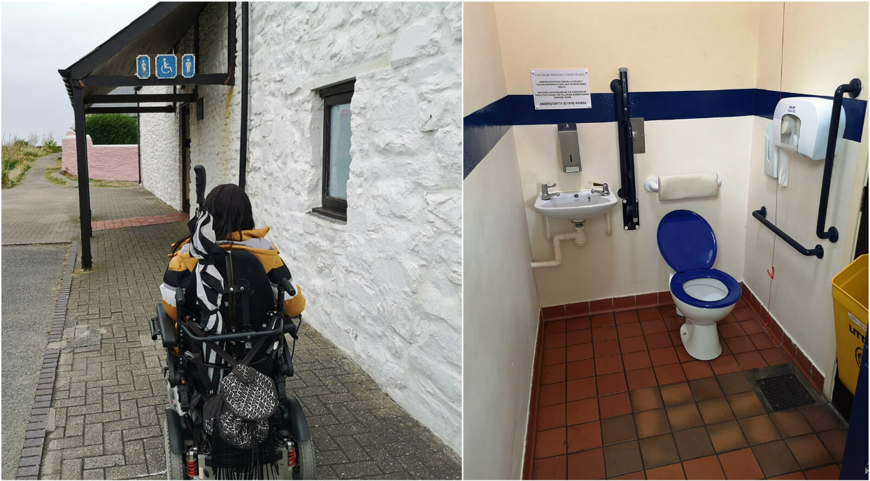 Accessible toilet in Aberaeron located near to the harbour.