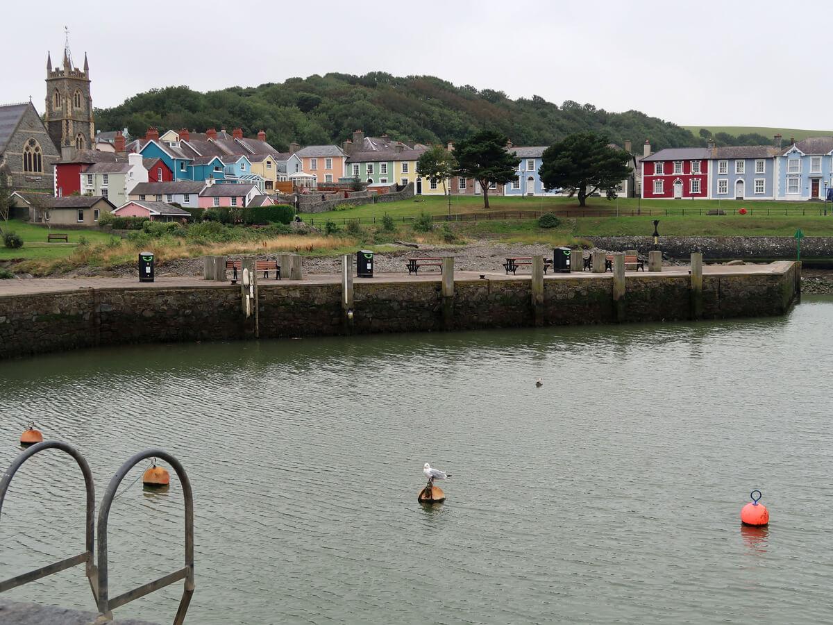 Aberaeron harbour.