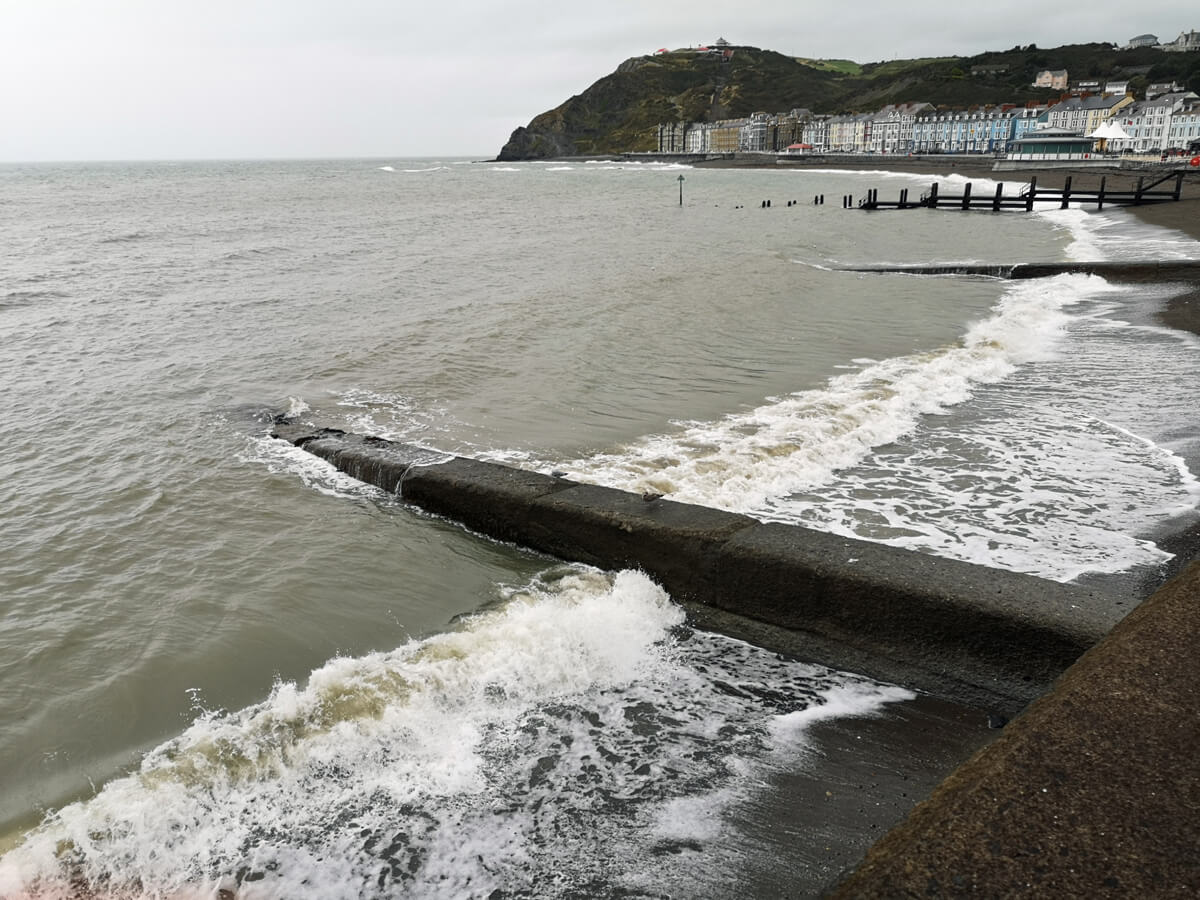 Aberystwyth pier and promenade